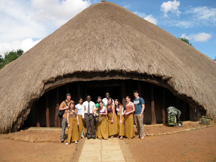 Group in front of the Kasubi Tombs